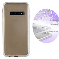 BackCover Layer TPU + PC voor Samsung S10 Zilver