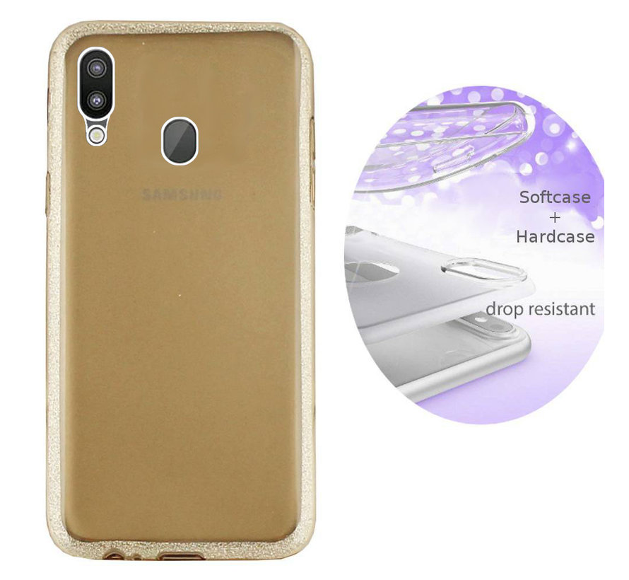 BackCover Layer TPU + PC voor Samsung M20 Goud