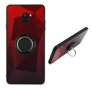 Colorfone BackCover Ring Aurora A6 2018 Rood+Zwart