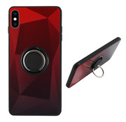Colorfone BackCover Ring Aurora iPhone Xs Rood+Zwart