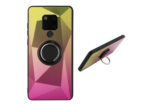 BackCover Ring Aurora Mate 20 Goud+Roze