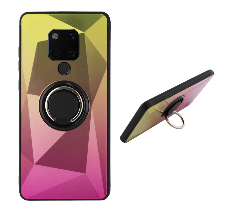 BackCover Ring / Magneet Aurora Huawei Mate 20 Goud+Roze