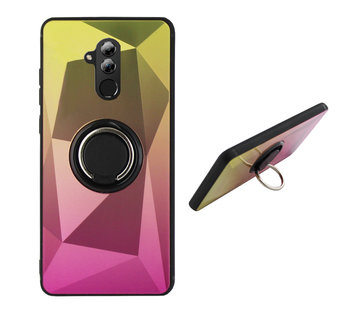 Colorfone BackCover Ring Aurora Mate 20 Lite Goud+Roze