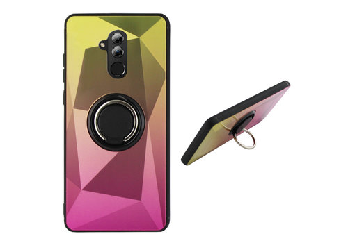 BackCover Ring Aurora Mate 20 Lite Gold+Pink