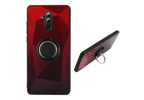 BackCover Ring Aurora Mate 20 Lite Rood+Zwart