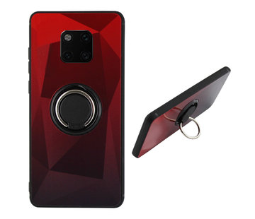 Colorfone BackCover Ring Aurora Mate 20 Pro Rood+Zwart