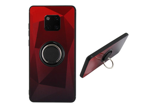 BackCover Ring Aurora Mate 20 Pro Rood+Zwart