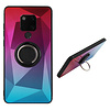 Colorfone BackCover Ring / Magneet Aurora Huawei Mate 20 Roze+Blauw