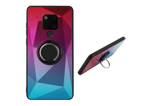 BackCover Ring Aurora Mate 20 Pink+Blue
