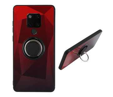 Colorfone BackCover Ring Aurora Mate 20 Rood+Zwart