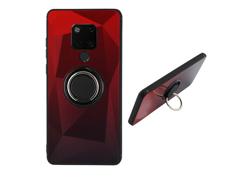 BackCover Ring Aurora Mate 20 Rood+Zwart
