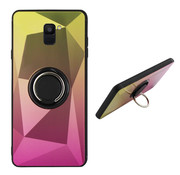 Colorfone Samsung A6 2018 Case Gold and Pink - Ring Aurora