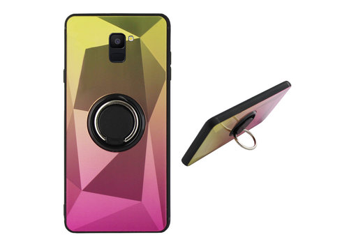 BackCover Ring Aurora A6 2018 Goud+Roze