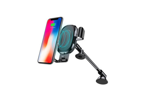 Wireless Charger Gravity Car Mount Houder Zwart