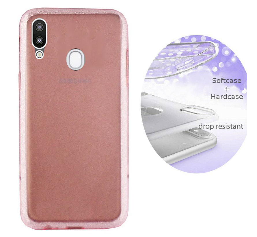 BackCover Layer TPU + PC voor Samsung A20 - A30 Roze