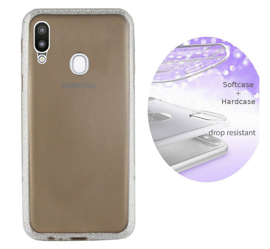 BackCover Layer TPU + PC voor Samsung A20 - A30 Zilver