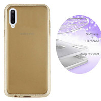 BackCover Layer TPU + PC voor Samsung A70 Goud