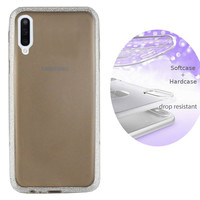 BackCover Layer TPU + PC voor Samsung A70 Zilver