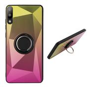 Colorfone Samsung A10 en M10 Ring Houder Hoesje Goud Roze - BackCover Ring / Magneet Aurora