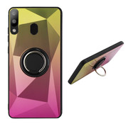 Colorfone Samsung M20 Ring Houder Hoesje Goud Roze - BackCover Ring / Magneet Aurora
