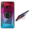 Samsung M20 Ring Houder Hoesje Roze Blauw - BackCover Ring / Magneet Aurora