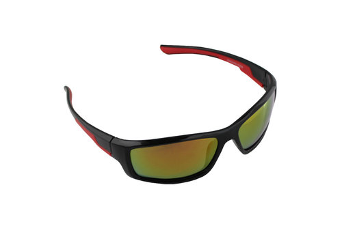 Sunglasses Sport Rectangle Polarizing Glass Red Yellow S368_3 FREE Glasses Case