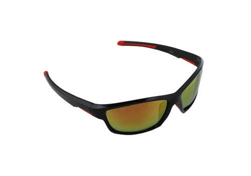 Sunglasses Sport Rectangle Polarizing Glass Red Yellow S371_5 FREE Glasses Case