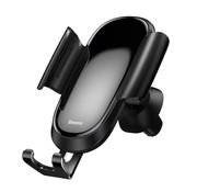 Baseus Luxe Telefoonhouder Auto Ventilatie Zwart