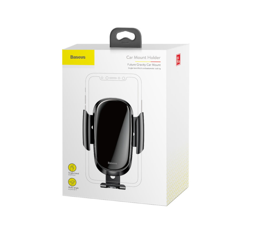 Luxe Telefoonhouder Auto Ventilatie - Zwart