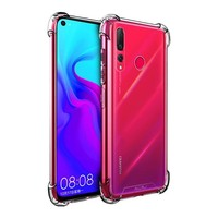 Backcover Anti-Shock TPU + PC voor Huawei Nova 4 Transparant