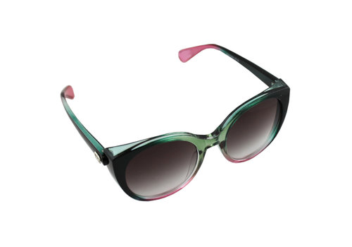 Sunglasses Cat Eye Green Pink 2714_1