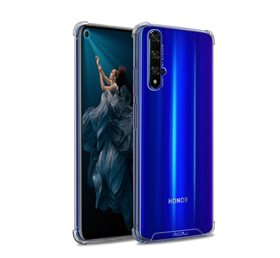 Backcover Anti-Shock TPU + PC voor Huawei Honor 20 Pro Transparant