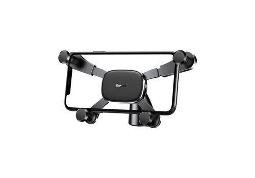 Horizontaal Gravity Car Mount Zwart