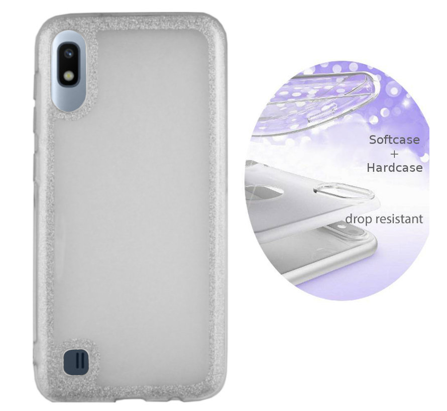 BackCover Layer TPU + PC voor Samsung A10 Zilver