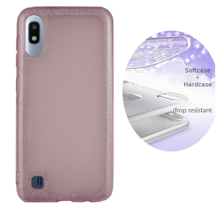 BackCover Layer TPU + PC voor Samsung A10 Roze
