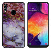Colorfone Samsung M20 Hoesje Paars/Rood - Marble