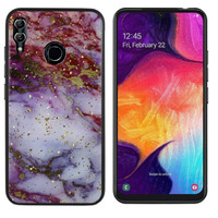 Samsung M20 Hoesje Paars/Rood - Marble
