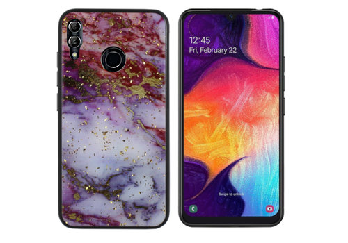 BackCover Marble Glitter M20 Rood