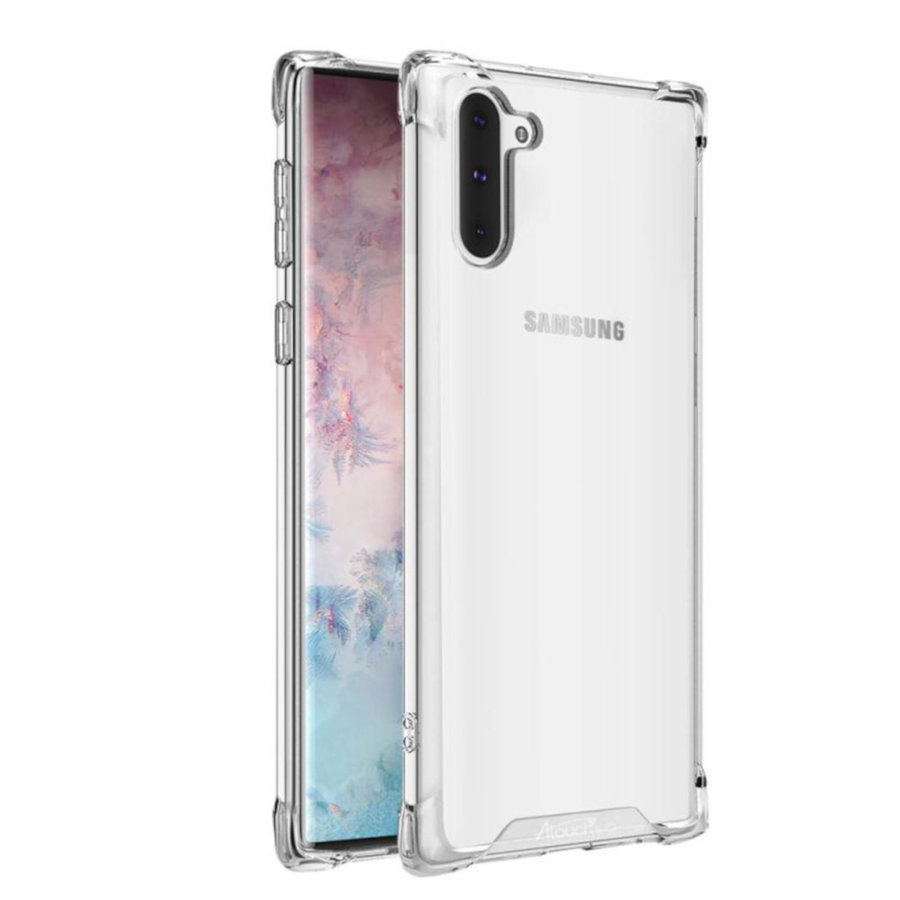 Backcover Anti-Shock TPU + PC voor Samsung Note 10 Transparant