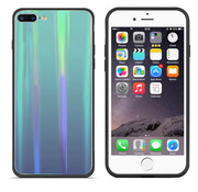 Colorfone BackCover Aurora Glass iPhone 8 Plus - 7 Plus Blauw