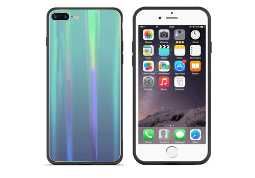 BackCover Aurora Glass iPhone 8 Plus - 7 Plus Blauw