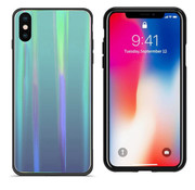 Colorfone BackCover Aurora Glass iPhone Xs Max Blauw