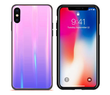 Colorfone BackCover Aurora Glass iPhone X - XS Roze