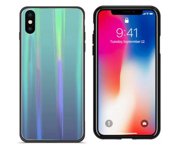 Colorfone BackCover Aurora Glass iPhone Xr Blauw