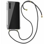 Colorfone Samsung Note 10 Hoesje Transparant met Koord - Shockproof Koord