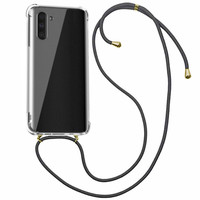 Backcover Shockproof Cord TPU + PC for Samsung Note 10 Transparent