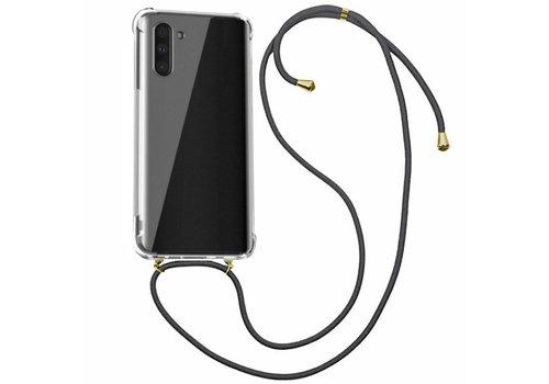 Samsung Note 10 Hoesje Transparant met Koord - Shockproof Koord