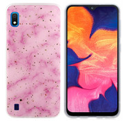 Colorfone Samsung A10 - M10 Hoesje Roze Marble