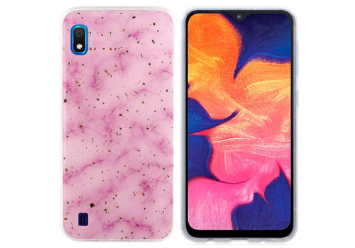 BackCover Marble Glitter A10 - M10 Roze