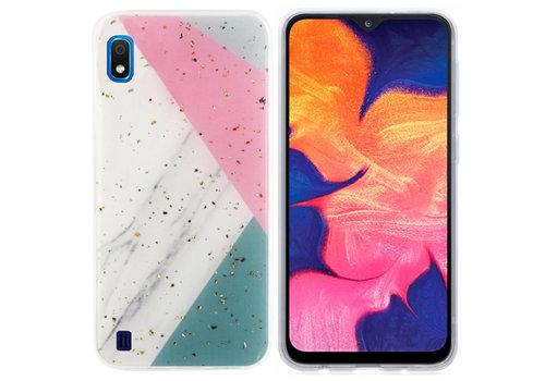 BackCover Marble Glitter A10 - M10 Grijs